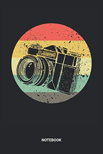 Notebook: Retro Photography Themed Notebook (6x9 inches) with Blank Pages ideal as a Vintage Photographer Camera Journal. Perfect as a Travelling Book ... Lover. Great gift for Kids, Men and Women