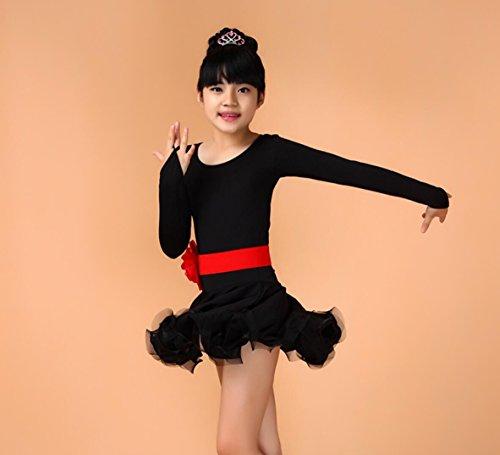 Latin Wettbewerb Dance Kostüm - Langärmelige Kinder Latin Dance Kostüme Kinder Latin Dance Wettbewerb Kleidung Tanz Kleidung Wettbewerb, 3, xs