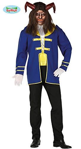 Guirca Costume Uomo Adulto Principe Adam Bestia Disney Carnevale Taglia L 52-54