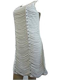 Cotton ClubDamen Kleid, Einfarbig Weiß Ivory White