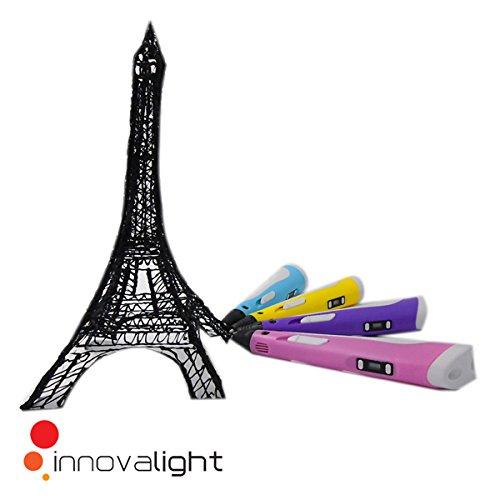 3D Pen Bolígrafo Pluma de Impresión Estereoscópica Con la pantalla LCD (AZUL)