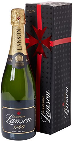 Lanson Black Label Non Vintage Brut Champagne with Gift Box, 75 cl