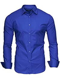 "Kayhan Hombre Camisa Slim Fit Modello ""Plain"""