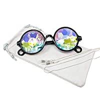 TERAISE Caleidoscoop Bril Rainbow Prism Zonnebril Voor Dames Heren Beste Rave Party Diffractie Glas Kristal Lenzen