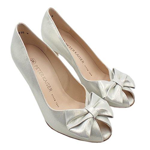 Zapatillas Stia Lady Peep Toe De Mujer Color Blanco De Peter Kaiser Estrella Blanca
