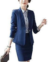 4d489dcd0242 Completo Donne Slim Fit Elegante Ufficio Business Giacca Tuta Blazer Gonna  E Top