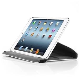 XAiOX iPad Mini Hülle Tasche Lederhülle Case Cover mit Aufstellfunktion und Drehfunktion Ständer, Leder - weiss