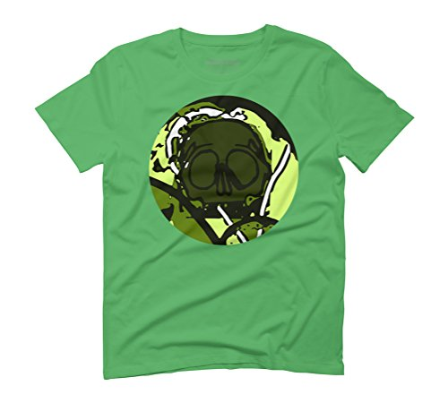 Skull Men's Graphic T-Shirt - Design By Humans Green