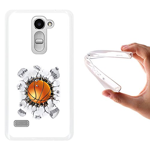WoowCase LG Ray Hülle, Handyhülle Silikon für [ LG Ray ] Basketball Handytasche Handy Cover Case Schutzhülle Flexible TPU - Transparent