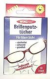 Wundmed Brillenputztuch/Brillenreinigungstuch mit Reinigungsflüssigkeit 10er Set Feuchtputztuch Mikrofaser zum Reinigen von Brillen und optischen Gläsern Optikerqualität EINWEG -verpackt(1)