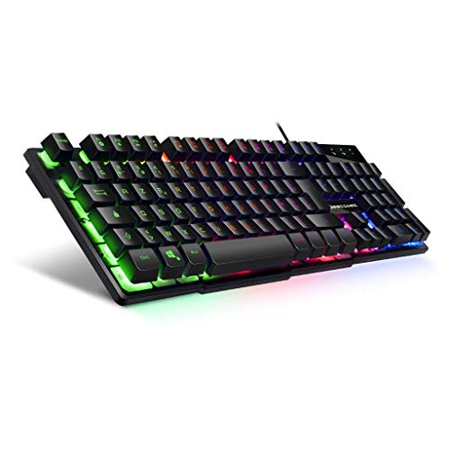 Empire Gaming Clavier PC Empire K300 – 105 touches semi-mécaniques dont 19 touches anti-ghosting 12 raccourcis multimédia Rétro-éclairé LED RGB