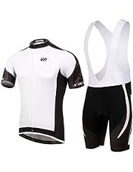 Spoz Men Cycling MTB White Gel Pad Bid Jersey Set XL