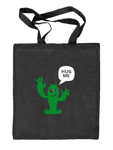 schwarz Hug Kaktus Stoffbeutel Me natur Tasche Jute Natur Shirtstreet24 SIZE ONE gWOAnZzW