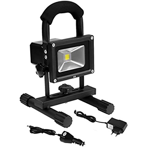 LE Foco portátil recargable LED 10W = 60W Halógena, IP65 Exteriores/Interiores, cargadores