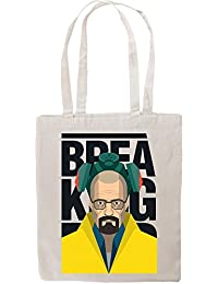 Breaking Bad Inspired Walter White With Gas Mask Fan Artwork Tote Shopping Bag