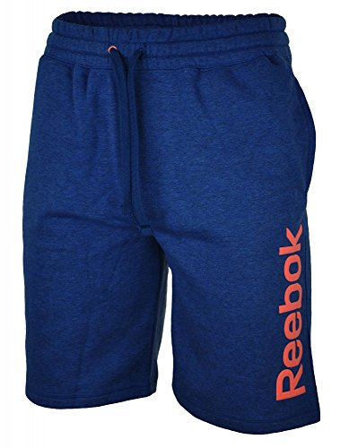 Reebok Elements Herren-Tennishose, Frottee Medium Blau - navy (Medium Frottee)