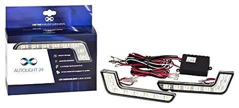 LED Tagfahrlicht L-Form Curve-Design 12V 8 x SMD LEDs TÜV R87 Modul für Seat mii Ibiza 6L Ibiza 6J Leon 1M Leon 1P Leon 3 Toledo 2 1m Exeo Altea Alhambra I Alhambra