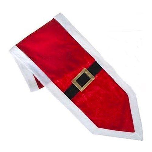 Robelli Red & White Santa Belt Christmas Table Runner Decoration