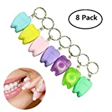 8 piezas de 15m de hilo dental encerado elige cuidado dental con llavero para viajes y colores al azar al aire libre