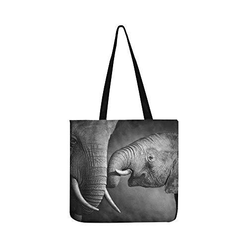 Elefantes que muestran afecto Procesamiento artístico SHAOKAO SHAOKAO Bolso de mano Bolso...