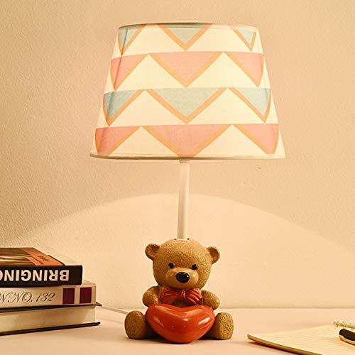 EFGS Resin Bear Mesa lámpara para niños, niñas, Dormitorio, Regalo de Kindergarten,C