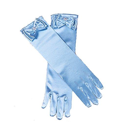 Cinda Cinda Mädchen-heilige Kommunion-Blumen-Mädchen-Handschuhe in 11 Farben 4-8 Jahre Hellblau 4-8 Jahre