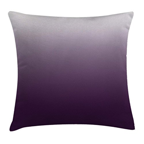ghkfgkfgk Gradient Perfect Harmony of Vivid Colors Themed Modern Design Artwork PrintOmbre Throw Pillow Cushion Cover Decorative Square Accent Pillow Case 18 X 18 Inches Aubergine White - Designs Down Bootie