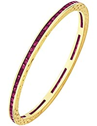 Peora Gold Plated Red Bangle For Women(PFDB2100)
