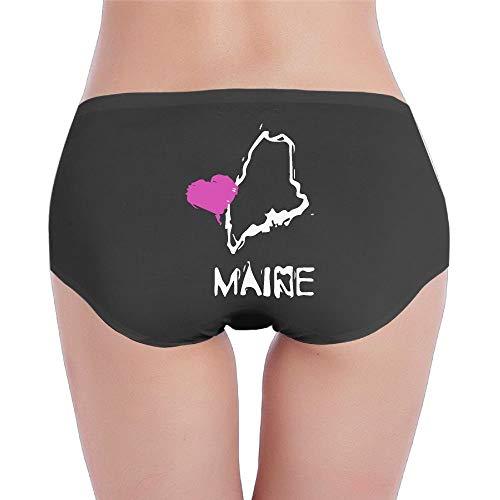 GDESFR Panties Love Maine State Women's Sexy Low-Waist Brief Panties