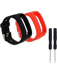 WEINISITE Silikon Armband Ersatzarmband mit Montagewerkzeug für Garmin Vivosmart HR