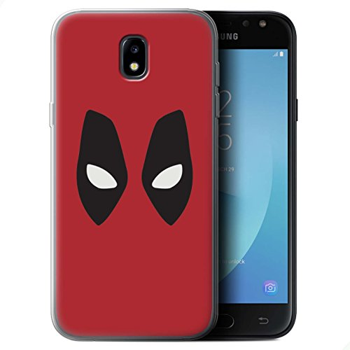 Stuff4 Gel TPU Hülle / Case für Samsung Galaxy J5 2017/J530 / Deadpool Maske Inspiriert Muster / Superheld Comic-Kunst Kollektion
