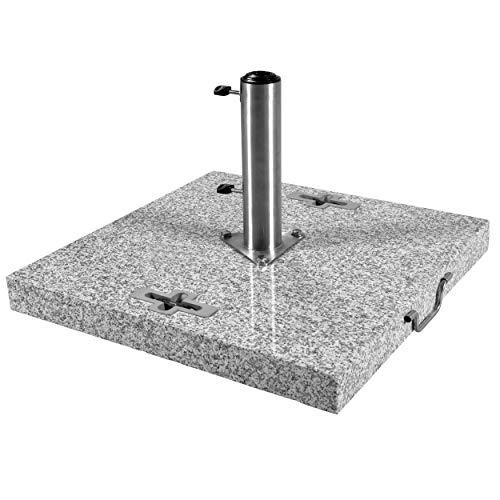 Doppler 90 kg Granit Schirmständer mit Rollen