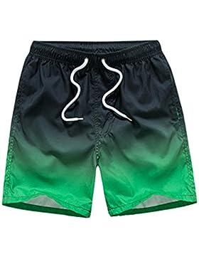 Deylaying Bañador de Natación de Hombre Bóxers de Algodón Deportivos Playa Piscina Elástico Moda Surf Shorts Color...