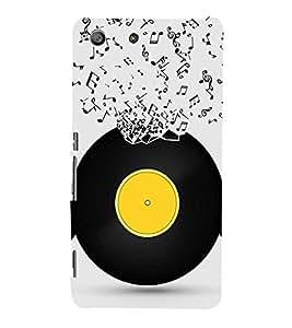 Music Record 3D Hard Polycarbonate Designer Back Case Cover for Sony Xperia M5 Dual :: Sony Xperia M5 E5633 E5643 E5663
