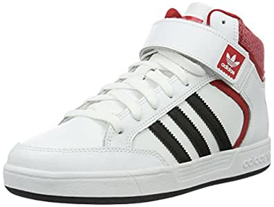 adidas Originals Men's Varial Mid Ftwwht, Cblack and Scarle Leather Sneakers - 6 UK/India (39 1/3 EU)
