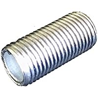 Fe Tubo de rosca M10x 1Longitud 30mm Galvanizado lámpara Tubo > > Tubo de conexión 10unidades)