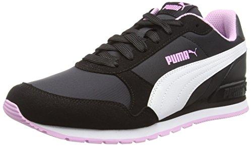 Puma Unisex-Erwachsene St Runner V2 Nl Fitnessschuhe, Schwarz (Puma Black-Puma White-Orchid 11), 42 ()