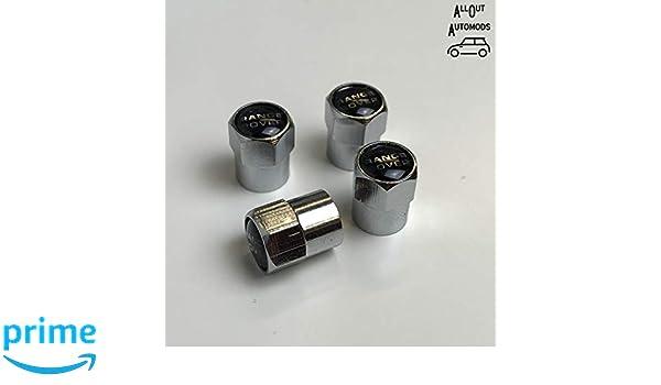 AllOutAutomods Set of four chrome metal car valve tyre cap dust cap fit for Range Rover Vogue Autobiography HSE Dynamic SRV Evoque