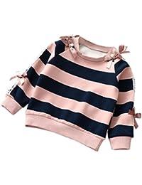Kleinkind Kinder Strickpullover Hirolan Kinderbekleidung Baby Mädchen Kleider Lange Ärmel Streifen Kapuzenpullover... preisvergleich bei kinderzimmerdekopreise.eu