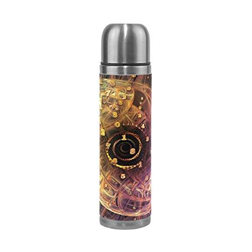 TIZORAX Tiefe von Infinity Fractal doppelwandige Vakuum Cup Isolierte Edelstahl-Flasche Travel Becher Thermos Kaffee Tasse 17oz