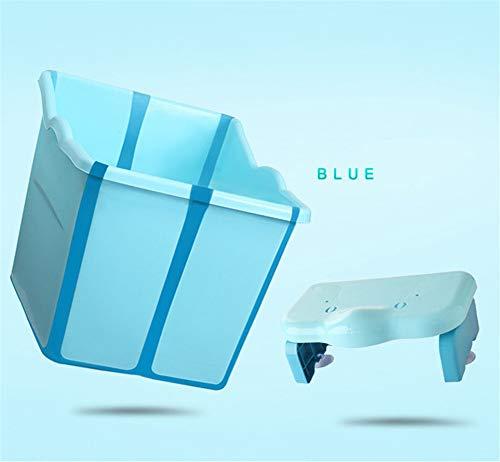DevilLover Baby Faltwanne Wanne Kunststoff Super Lastlager Gesundepp Material Sparen Platz Mit Abnehmbaren Saugnapf Bad Hocker,Blue (Platz Kunststoff-wanne)