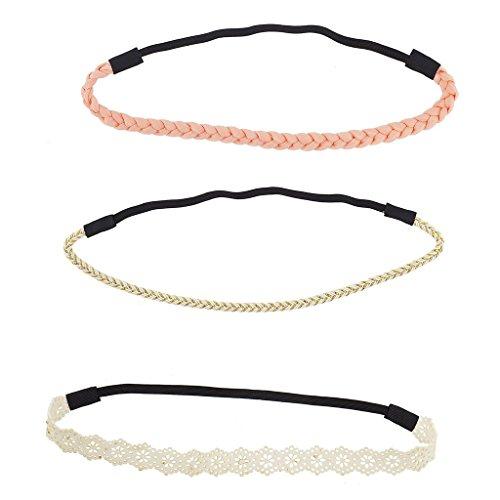 lux-accesorios-peach-y-marfil-lazer-cut-pauelo-para-la-cabeza-elstica-trenzada-set-3pcs