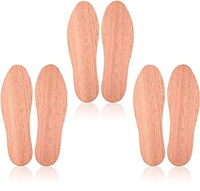 Zedersan 3 Paar Zedernholzsohlen gegen Schweißfüße, Einlagen stoppen Fußgeruch & Fußpilz, Frischesohlen für Arbeitsschuhe für Damen- und Herrenschuhe (35)