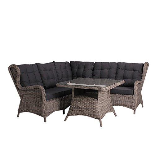 OUTLIV. Dining Lounge Argos Lounge Ecke 4-tlg Polyrattan Essgruppe Garten Loungegruppe Loungemöbel