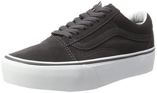 Vans Old Skool Platform, Zapatillas de Entrenamiento para Mujer, Gris (Asphalt/True Whitesuede), 39 EU