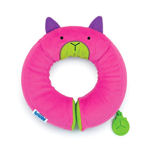 Trunki kid's travel neck pillow & chin support - yondi small betsy (pink)