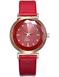 Reloj De Cristal De Cuarzo PrismáTico para Mujer Creative Starlight Dial Reloj Impermeable Relojes De Mujer