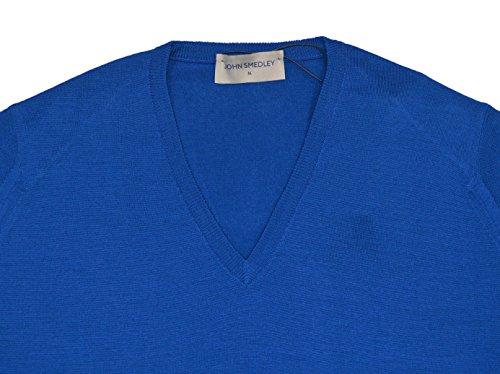 John Smedley Herren Pullover Blenheim Breton Blue