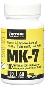 Jarrow Formulas, MK-7, Vitamin K2 as MK-7, 90 mcg, 60 Gélules