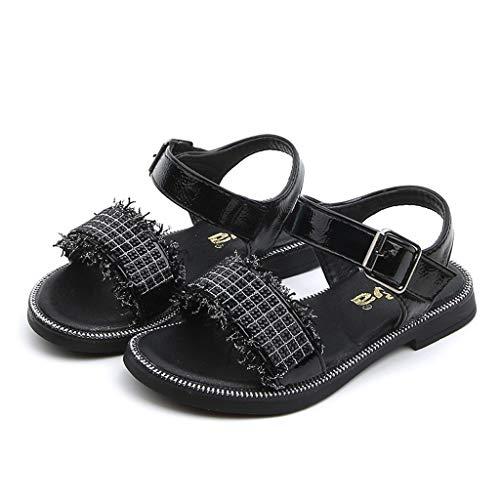 Kobay Babyschuhe Kleinkind Kinder Baby Mädchen Sommer Bling Kristall Süße Party Prinzessin Sandalen(32/8-9T,Schwarz) - 9t Schwarze Schuhe